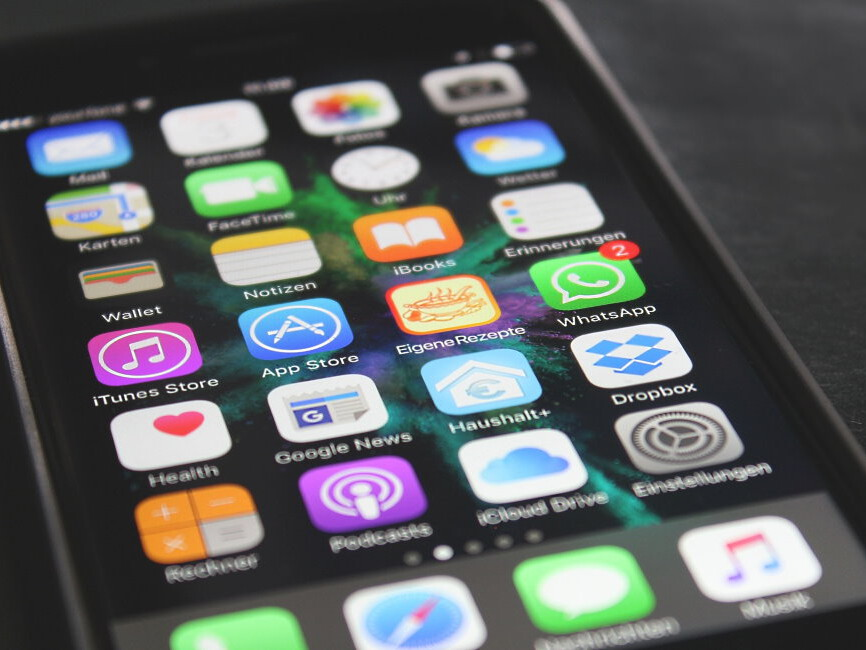 Betriebssystem iOS auf einem Handybildschirm