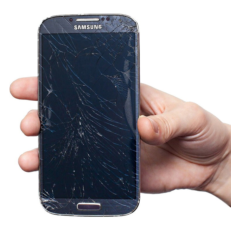 Stark zerstörtes Samsung Handy benötigt Datenrettung