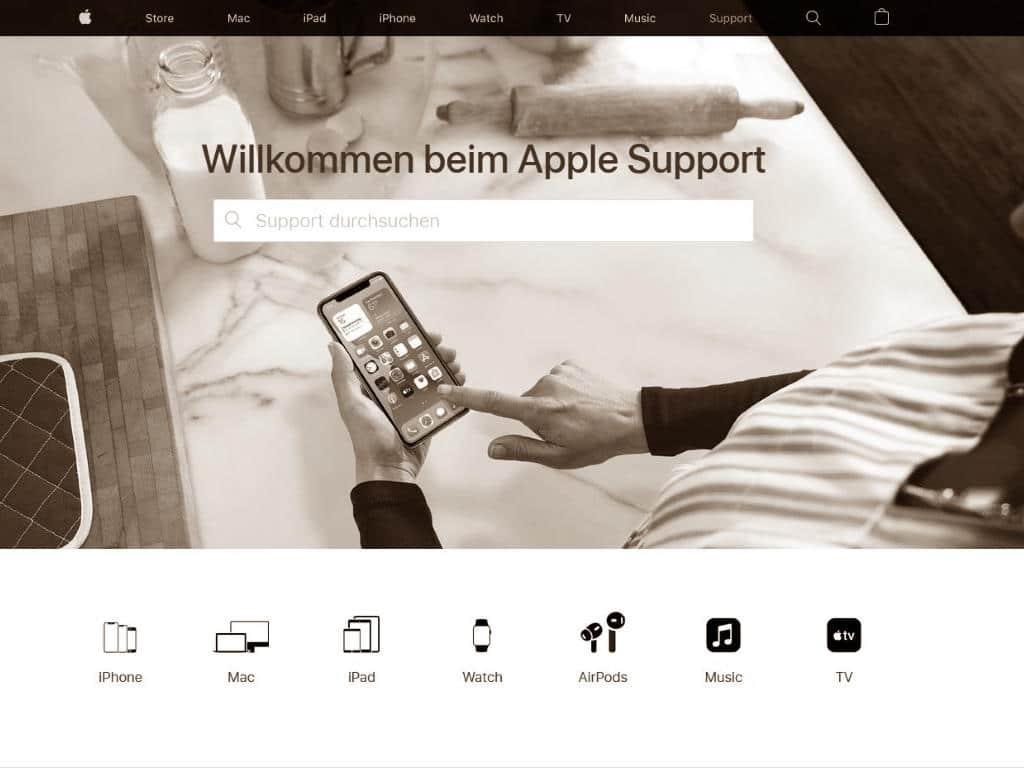 Quelle Screenshot https://support.apple.com/de-de