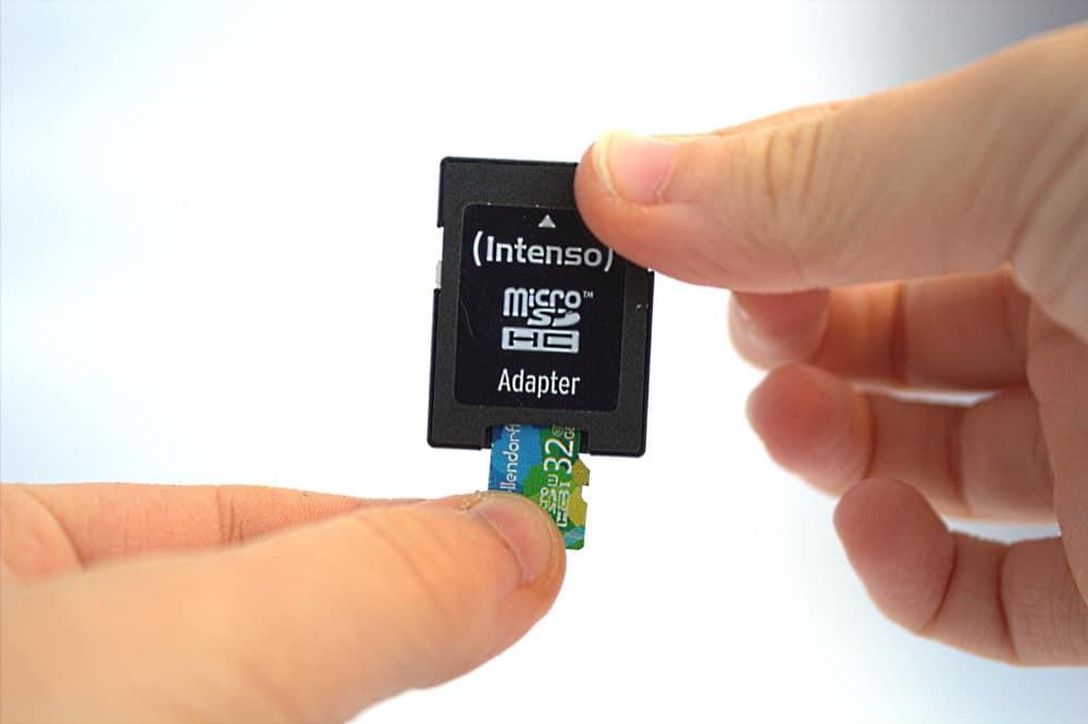 Datenrettung SD Karte mit Adapter